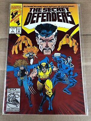 Vintage 1992 The Secret Defenders Marvel First Issue Comic Book Doctor Strange 1