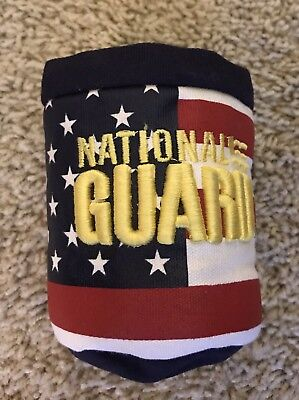 Vintage Super Thick Military National Guard Can Cooler Cozy w Belt Clip NEW USA