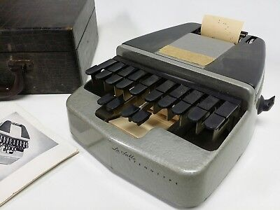 Vintage LaSalle Stenotype Stenograph Machine in Case with Manual