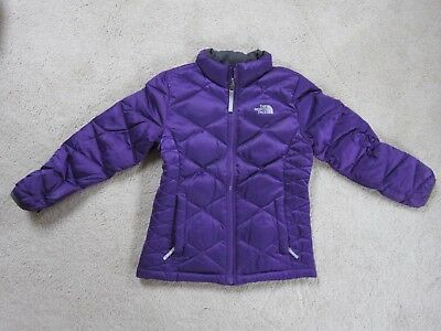North Face girls down coat - deep purple/eggplant color- M 10/12