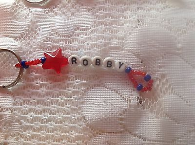 Boys Or Men's Personalized Keychain Or Zipper Pull With The Name Robby-New
