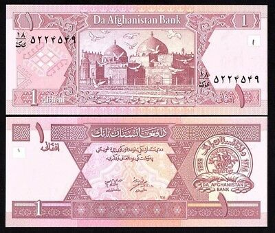 Afghanistan 1 Afghani 2002 Unc Banknote World Currency Note Paper Money (P-64A)