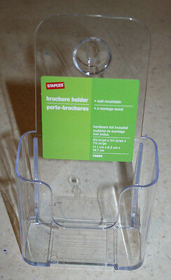 "Box of 12 Staples Brochure Holders Wall Mountable 4-1/2 ""x 3-1/4"" x 7-3/4"" NEW"