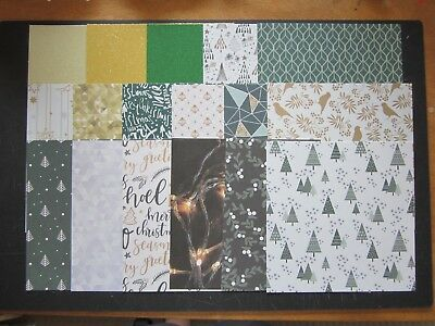 """Scrapbooking/cardmaking Papers - 6"""" X 6"""" -17 Sheets - """"rustic Christmas"""""""