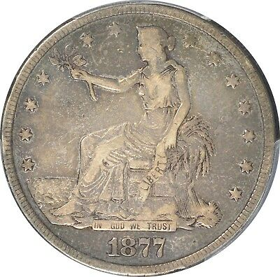 1877 $1 Trade Dollar PCGS VF20 Type 2/2 Color!