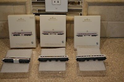 Hallmark 2007 Lionel Freedom Train Set of 3-Locomotive, Sleeper & Observation dA