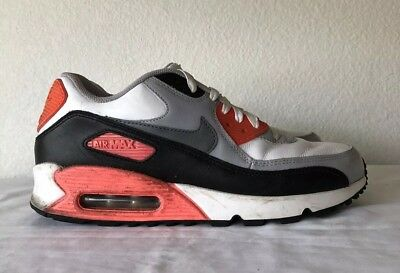 new arrival 65e70 c9839 ... NIKE Men s AIR MAX 90 iD White BLACK GREY INFRARED size 8.5 ...
