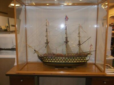 HMS Victory Ship Model and Custom Display Case