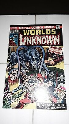 Worlds Unknown #5 FN/VF- Marvel Comics 1974 Bronze Age Science Fiction