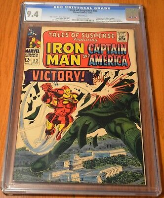 Tales of Suspense #83 CGC 9.4 NM White Pages - Iron Man Story - Victory!
