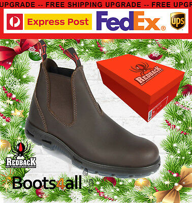 b9a78280fb0342 Redback Work Boots UNPU Great Barrier Water Resistant Nevada Puma Brown  with BOX