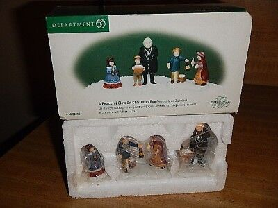 Dept 56 Dickens Village ~ A Peaceful Glow On Christmas Eve ~ Set of 3 ~ MIB
