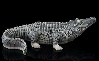 Crocodile Alligator Marble Figurine Stone Sculpture Russian Art Miniature Statue