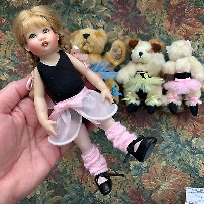 "7.5"" BALLET OUTFIT for Kish RILEY & 3 Friends Dressed Up to Play Ballet NO DOLL"