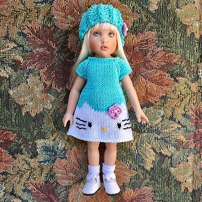 "7.5"" KISH Riley's World TULAH DOLL Turquoise Eyes+Blond Hair+HELLO KITTY Outfit"