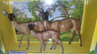 DEER FAMILY 2015 #1734 Breyer Buck, Doe, and Fawn NIB Never Removed