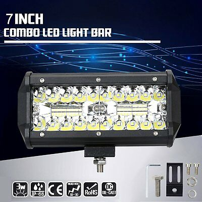 2x 7inch CREE LED Work Light Bar Spot Flood OffRoad Driving Reverse 4x4 Ford