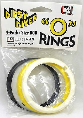 Luhr-Jensen Diver O Rings Size 000 Assorted Colors 4-Pack 5569-000-0101