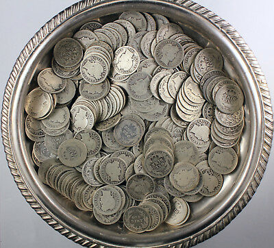 Assorted Lot Of (230) Barber Dimes - 90% Silver Lot