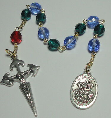 St George & Sacred Heart One Decade Rosary Horses Equestrians Farmers & Butchers