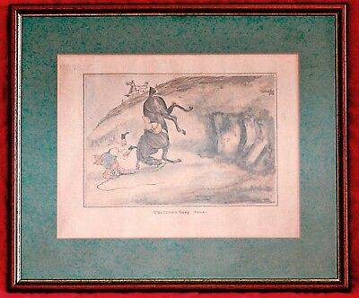 "HENRY ALKEN (19TH CENTURY) Hand Coloured Engraving ""The Down Leap done"""