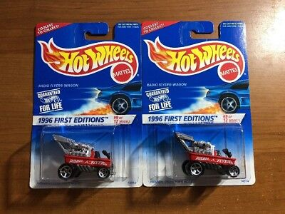 1996 Hot Wheels First Editions Series 9 of 12 #374 Radio Flyer Wagon Lot of 2
