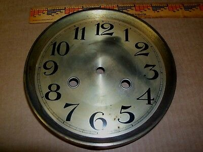 Antique German Gustav Becker ? Wall Clock Face Brass ? Rim  Metal Backing