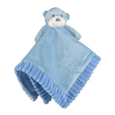 New Korimco Baby Comforter Comfy Soft Plush Security Blanket Nursery Toy Blue