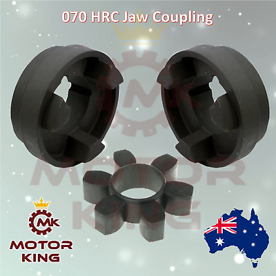 "070 HRC Jaw Coupling Bore sizes 10mm - 25mm 3/8"" 1/2"" 5/8"" 3/4"" 1"""