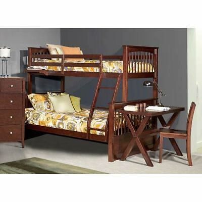 NE Kids Pulse Chocolate Twin Over Full Bunk Bed - 32050N