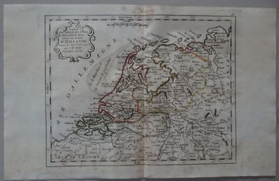 Netherlands - copper engraving map J.B. Nolin 1791