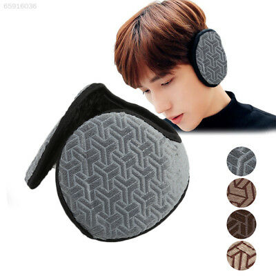 A0ED Lovely Soft Winter Man's Warm Earmuffs Solid Ear Cover Gift Outdoor Anti-Wi