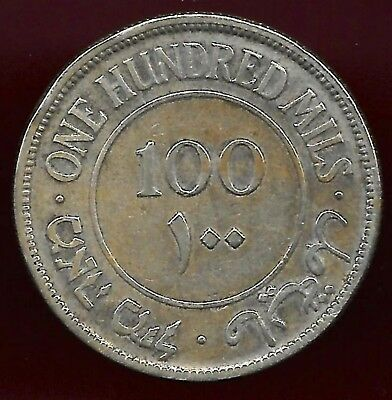 Palestine 1933 100 mils silver coin scarce date