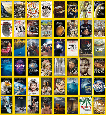National Geographic (Usa) - 2018,2017,2016,2015 Full Year Issues [Digital-Pdf]