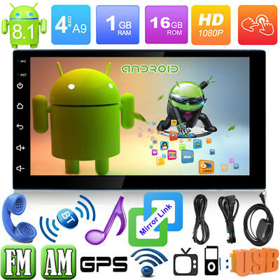 "Quad Core Android 8.1 WIFI de 7 ""Doble 2DIN Autoradio Car Estéreo MP5 GPS Player"