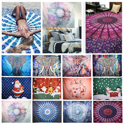1.5x2M Indian Tapestry Wall Hanging Mandala Hippie Bohemian Bedspread Throw Mats