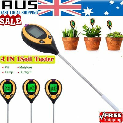 4 in 1 PH Tester Soil Water Moisture Light Test Meter for Garden Plant Good JI