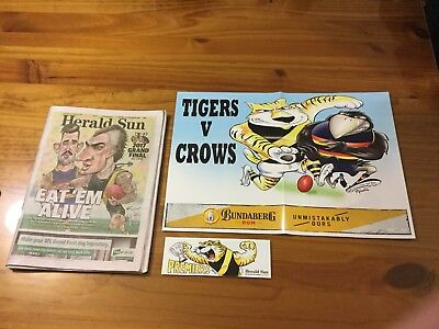 AFL Richmond  2017 Grand Final Herald Sun / Poster/ Tigers Grand Final Sticker.