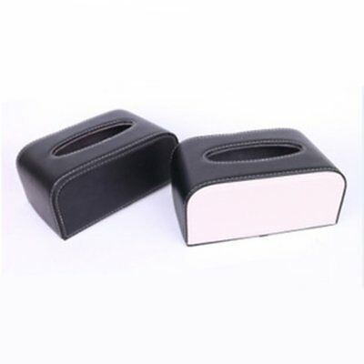 Car Leather Tissue Bag Car Sun Visor Tissue Box Car Tissue Box Car Accessories A