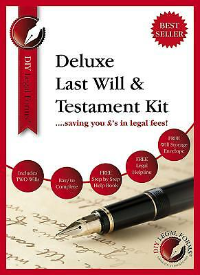 LAST WILL AND TESTAMENT KIT, Latest DELUXE Edition, WITH FREE LEGAL HELPLINE.