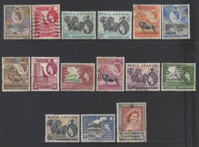 K.u.t 1954-1959 Defins Used Set Of 15 Cat £38+