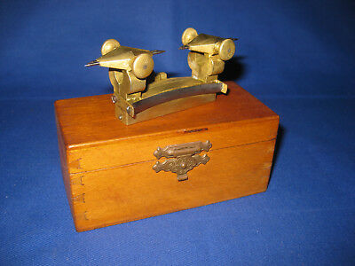 Antique Victorian Boxed Watchmaker Depthing By Stauffer Old Tool