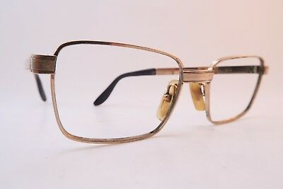 Vintage 60s eyeglasses frames gold filled tooled MAYFAIR 20/000 made in Italy