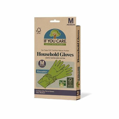 If You Care FSC Certified Natural Rubber Household Gloves–Medium–1 pack