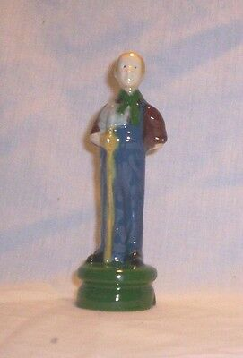 People #576 17.944.1 Ceramic Old Man Farmer Pie Bird