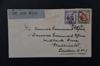 SARAWAK  1933 cover to London Airmail