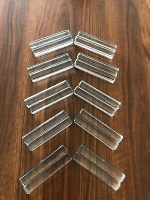 Set 20 French Glass Cutlery Knife Rests-Porte Couteau