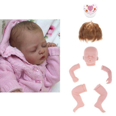 "Unpainted 20"" Reborn Kit Newborn Baby Doll & Mohair Hair & Magnetic Pacifier"