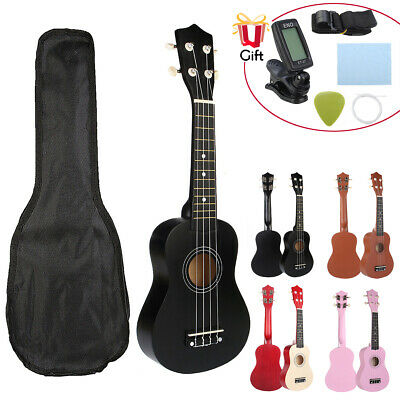 "21"" Economic Soprano Ukulele Uke Start Pack 12 Fret +Carrying Bag Tuner 8 Colors"