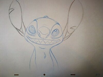 Walt Disney TV Animation Art Cel Production Drawing Lilo & Stitch 'Stitch' #113